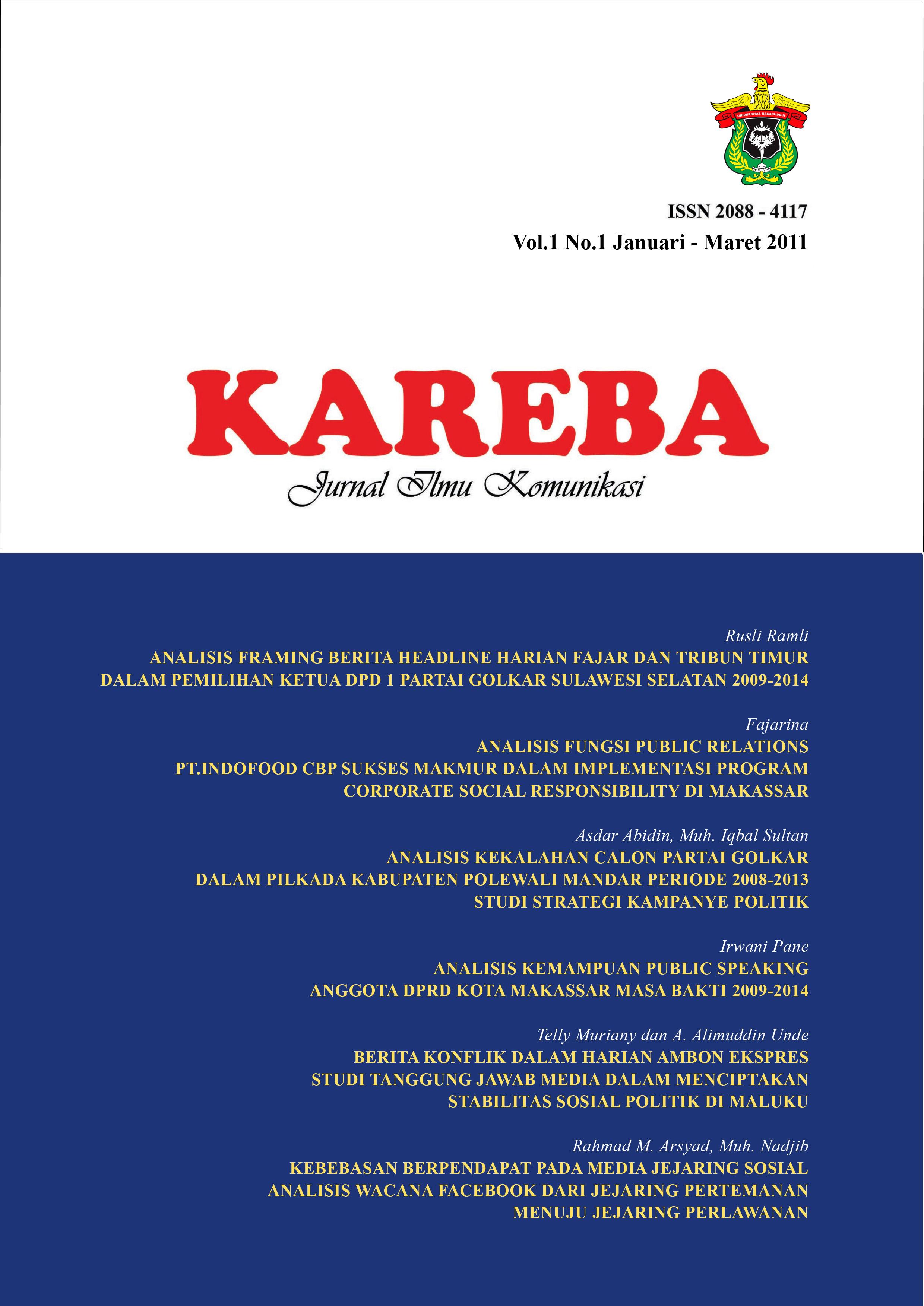 View Vol.1 No.1 Januari - Maret 2011