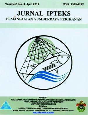 Jurnal IPTEKS PSP Vol. 2 No. 3