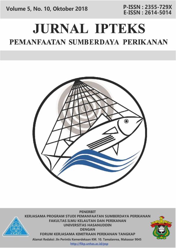 Pemetaan Daerah Penangkapan Ikan Cakalang Katsuwonus Pelamis Dengan Teknis Sistem Informasi Geografis Di Perairan Kabupaten Tolitoli Provinsi Sulawesi Tengah Jurnal Ipteks Pemanfaatan Sumberdaya Perikanan