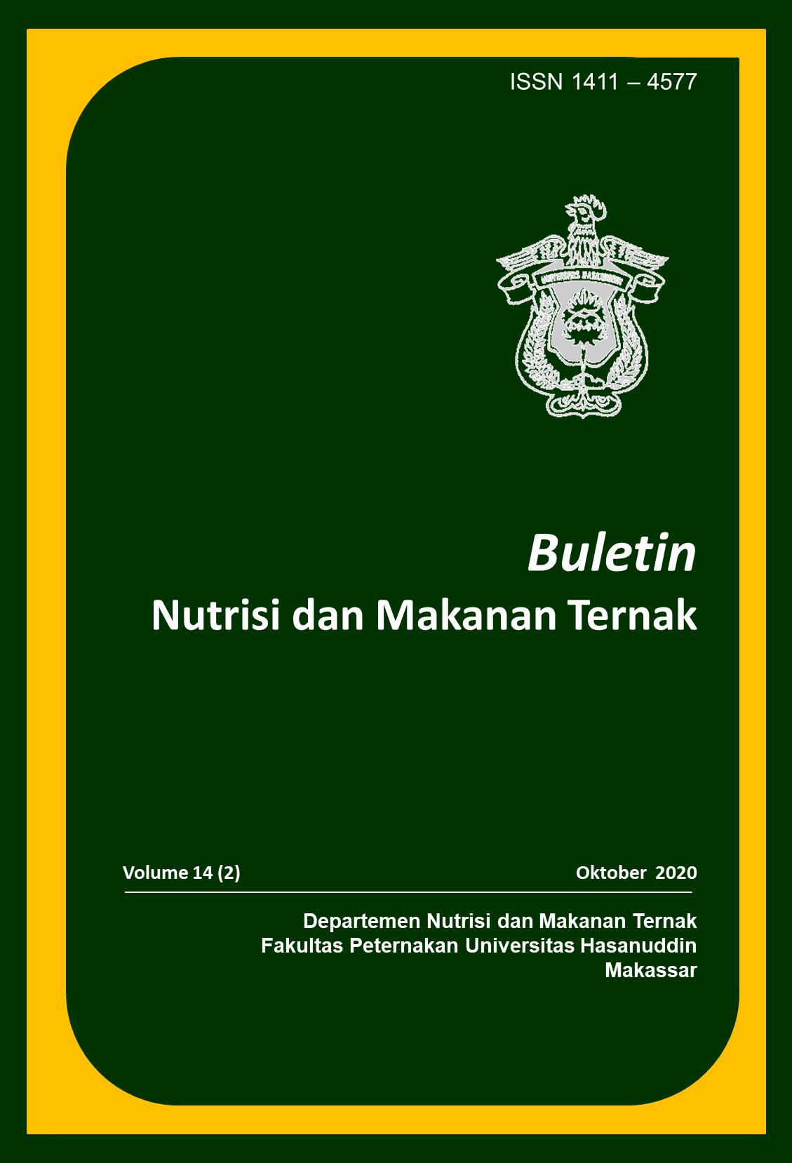 View Vol. 14 No. 2 (2020): Buletin Nutrisi dan Makanan Ternak Volume 14 Nomor 2