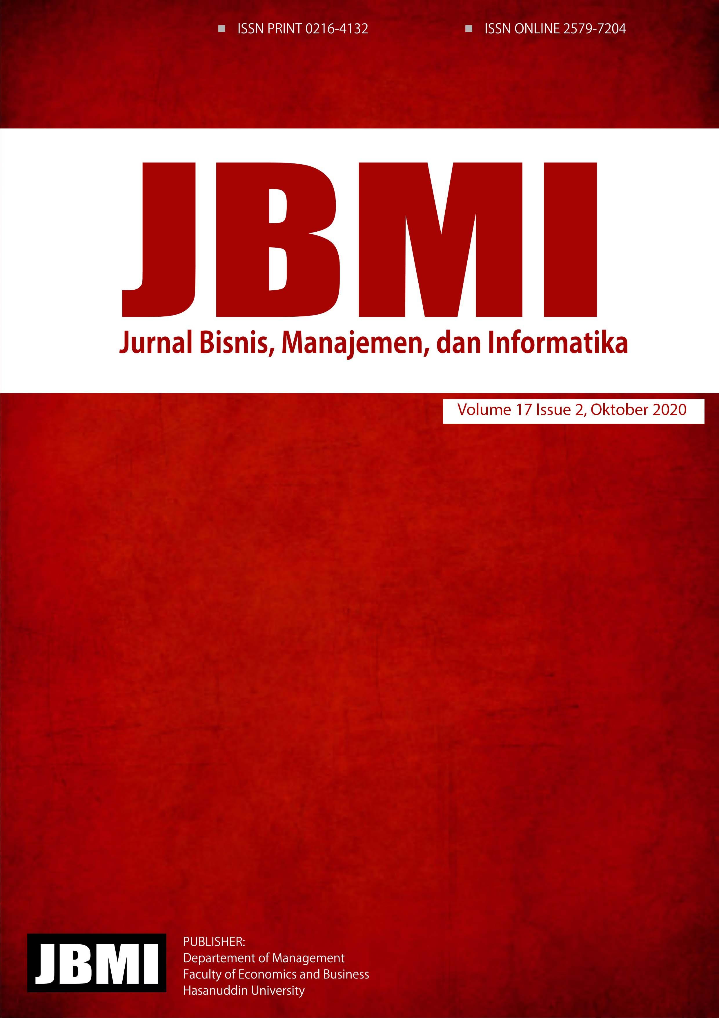 Jurnal Bisnis, manajemen dan Informatika cover