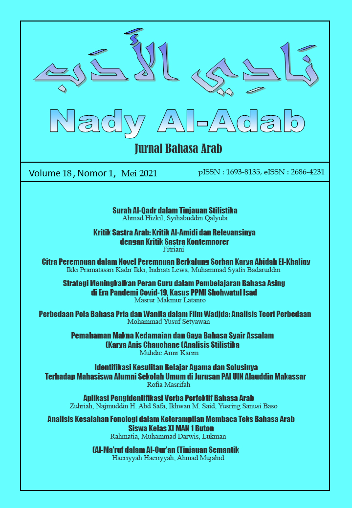 View Vol. 18 No. 1 (2021): Nady Al-Adab:  Jurnal Bahasa Arab