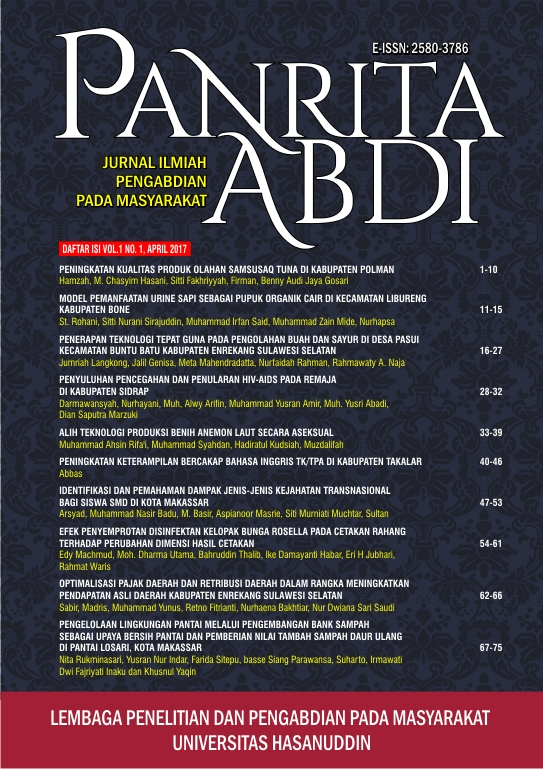 Cover Jurnal Panrita Abdi Vol. 1 No. 1, April 2017