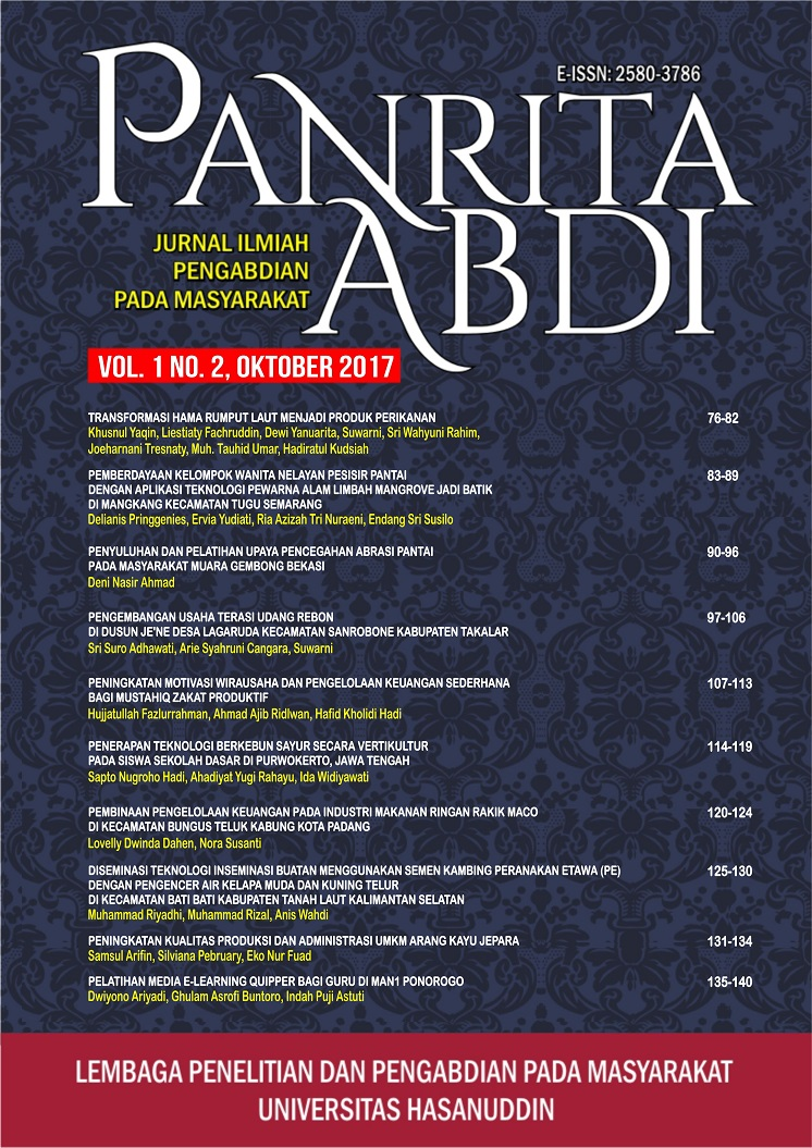 View Vol. 1 No. 2 (2017): Jurnal Panrita Abdi - Oktober 2017