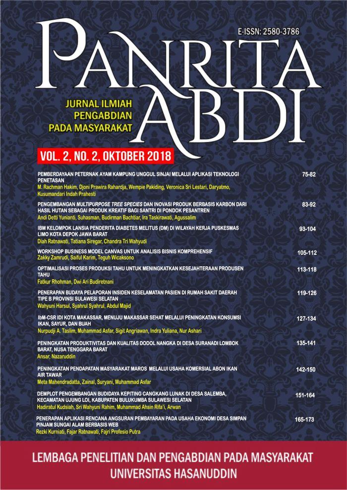 View Vol. 2 No. 2 (2018): Jurnal Panrita Abdi - Oktober 2018