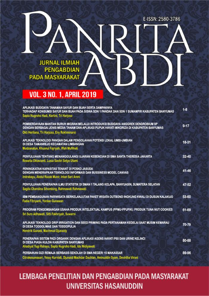 View Vol. 3 No. 1 (2019): Jurnal Panrita Abdi - April 2019