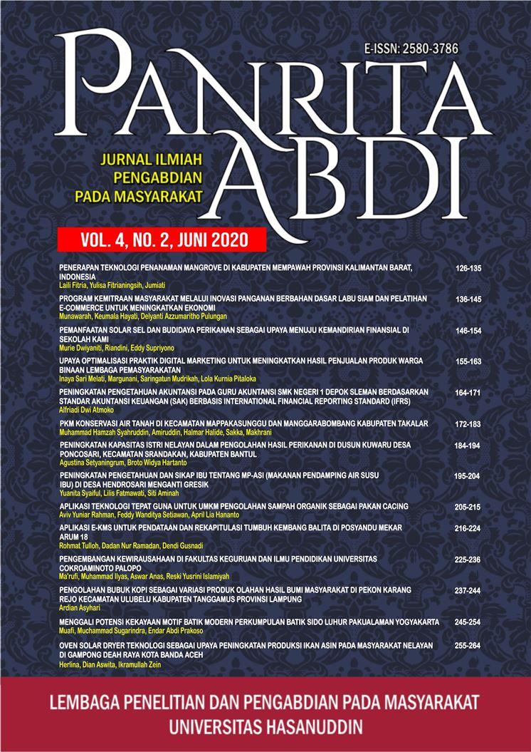 View Vol. 4 No. 2 (2020): Jurnal Panrita Abdi - Juni 2020
