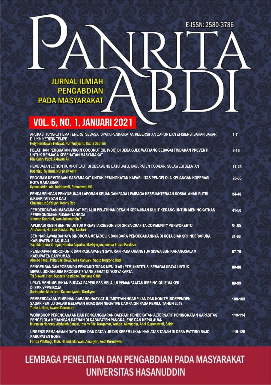 View Vol. 5 No. 1 (2021): Jurnal Panrita Abdi - Januari 2021