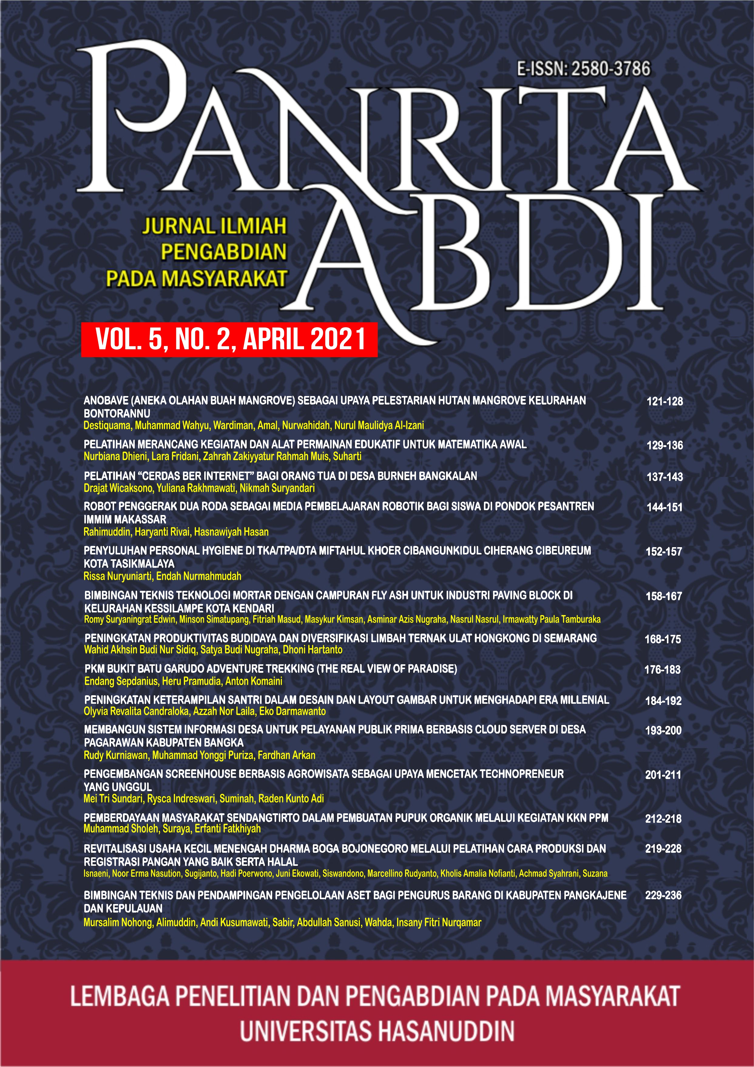 View Vol. 5 No. 2 (2021): Jurnal Panrita Abdi - April 2021