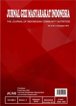 Jurnal Gizi Masyarakat Indonesia: The Journal of Indonesian Community NutritionVolume.8 No. 2 2019