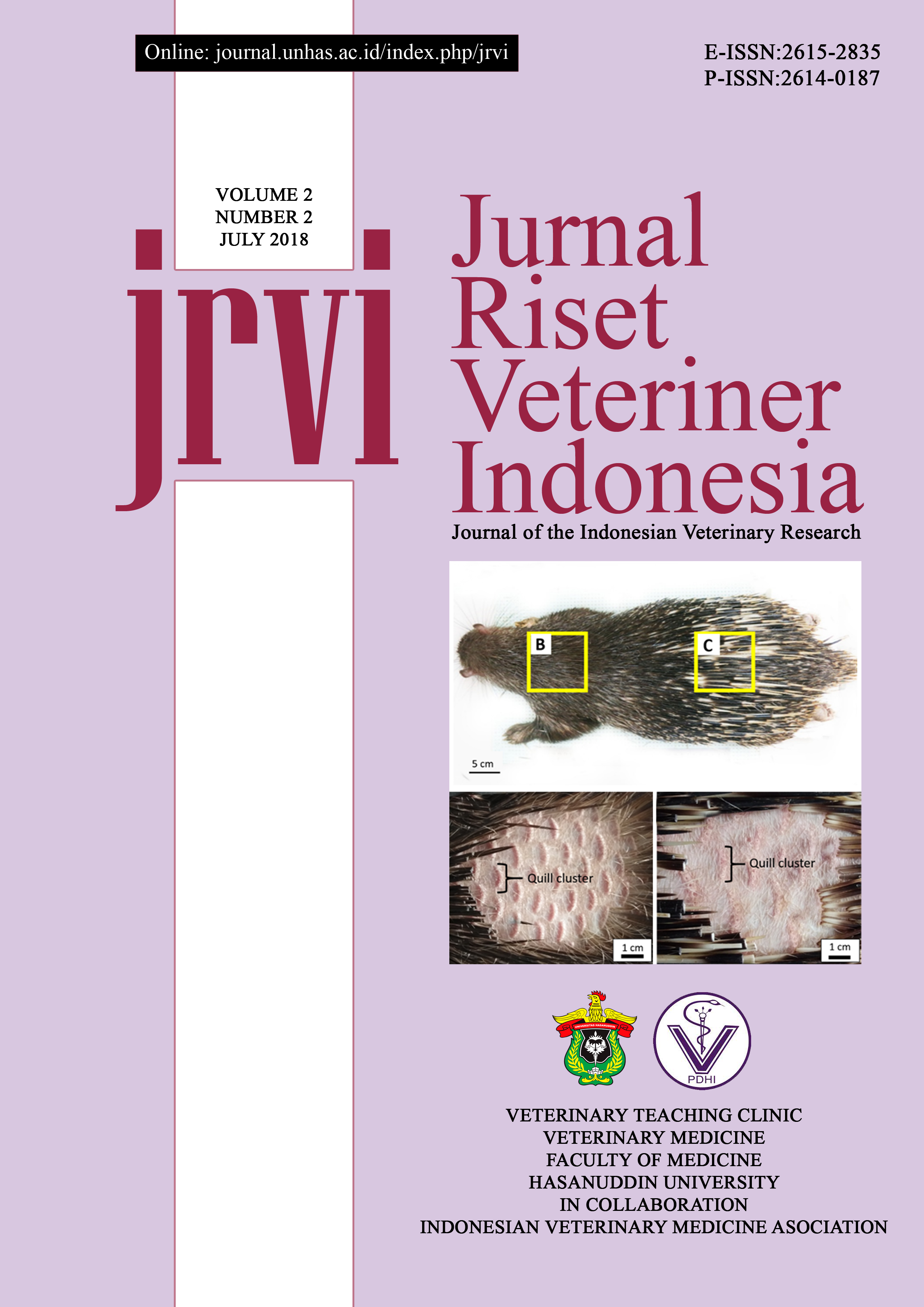 Vitamin E Alpha Tocopherol Level In The Dorsal Skin Of Sunda Porcupine Hystrix Javanica Jurnal Riset Veteriner Indonesia Journal Of The Indonesian Veterinary Research