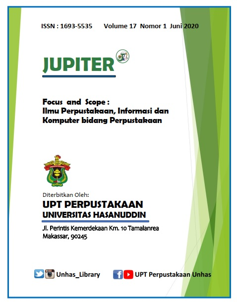 Sampul OJS Jurnal JUPITER Universitas Hasanuddin